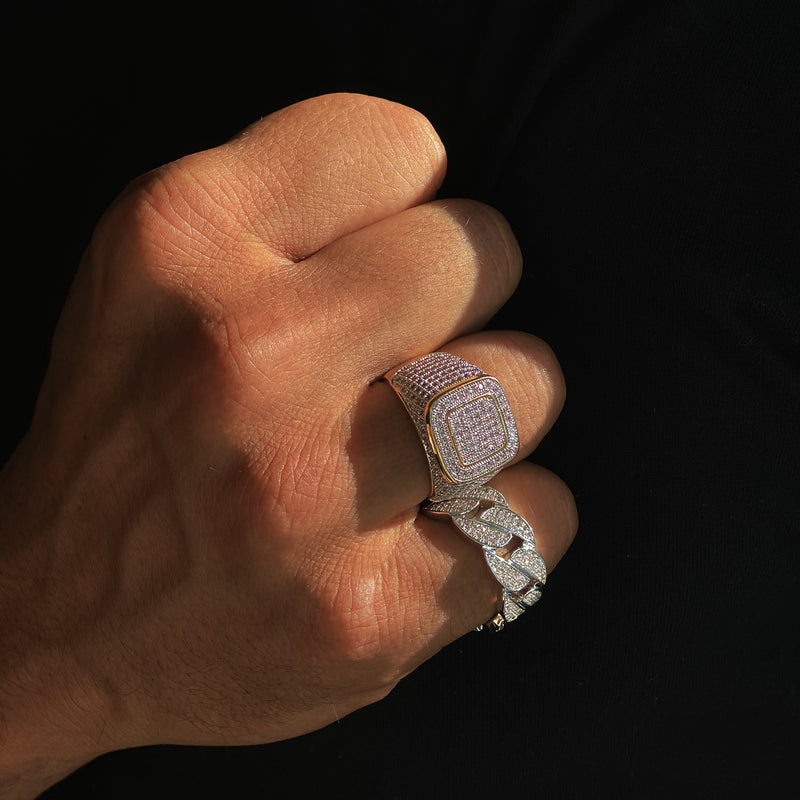 ICED CHAMPION RING - GULD