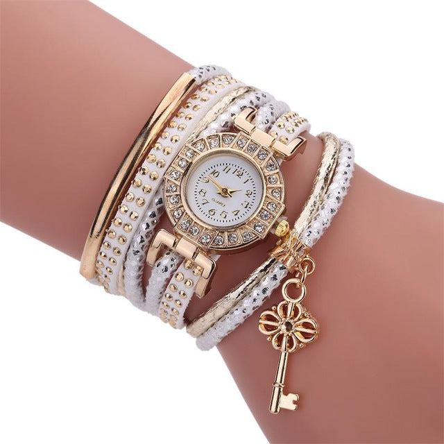 Fashion Crystal Lock Watch