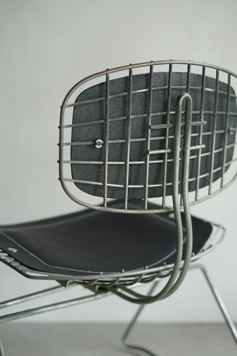 BEAUBOURG CHAIR-BLACK LEATHER