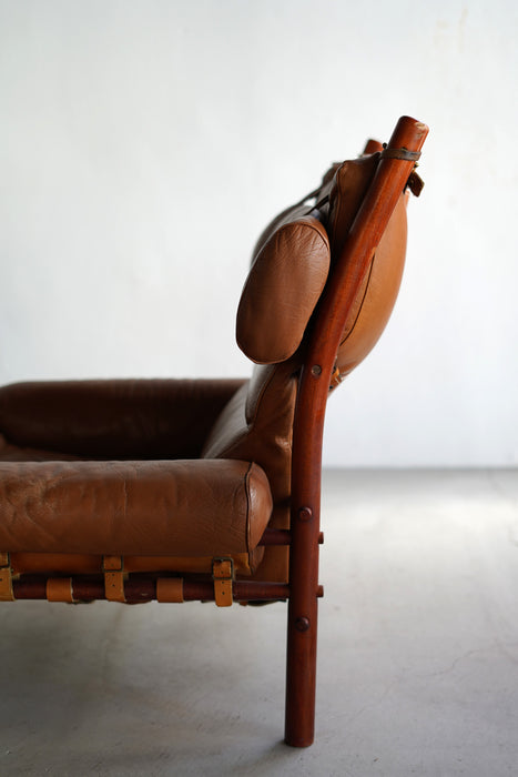 ARNE NORELL INCA CHAIR WITH OTTOMAN