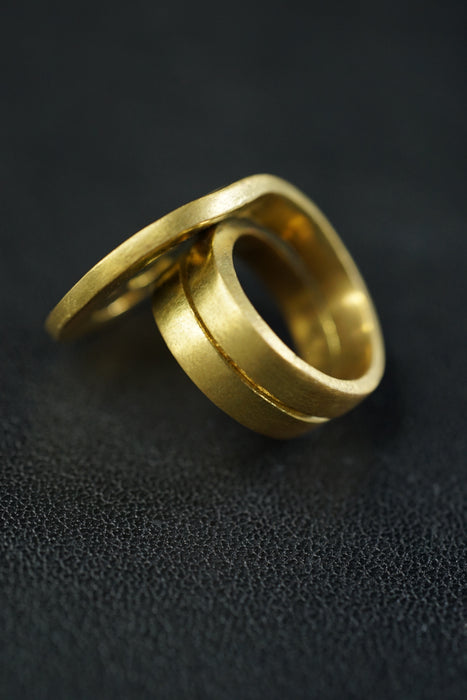 8UEDE<br>FRACTAL RING<br>in GOLD
