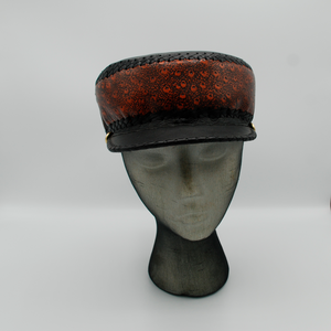 Hand crafted leather rasta crown