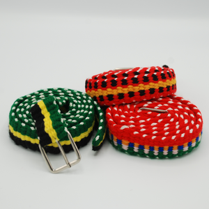 Hand-crafted Rasta Belts