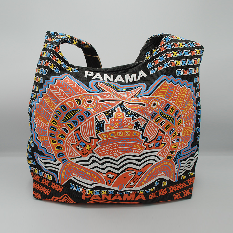 Panamanian Molas Print Canvas Bag