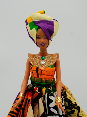 Custom African Royalty Doll 1
