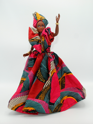 Handmade custom African Royalty Doll