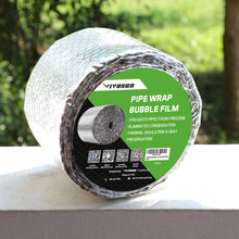 Load image into Gallery viewer, Crinoline Insulated Spiral Pipe Wrap Insulation Bubble Film 6-Inch by 25-Feet