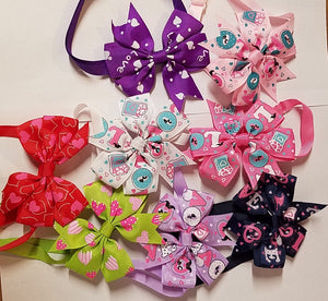 Festive Love Neck Bows - Official Pet Boutique