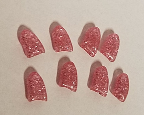 Light Pink Glitter Fake Nails for Dogs - Official Pet Boutique