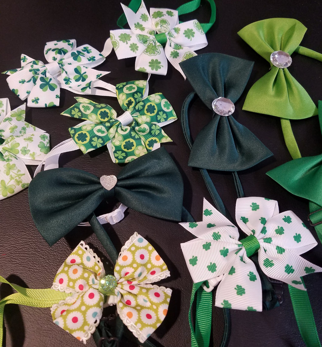 St. Patrick's Neck Bows - Official Pet Boutique
