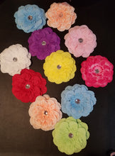 "Load image into Gallery viewer, 4"" Collar Flower Accessory (5 pieces per pack, various colors) - Official Pet Boutique"
