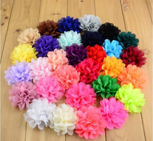 "Load image into Gallery viewer, 1.5"" Flower Hair Clips (alligator) (10 pieces per bag, various colors) - Official Pet Boutique"