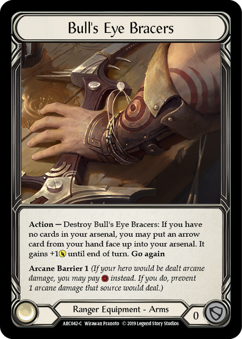 Bull's Eye Bracers [ARC042-C] 1st Edition Cold Foil
