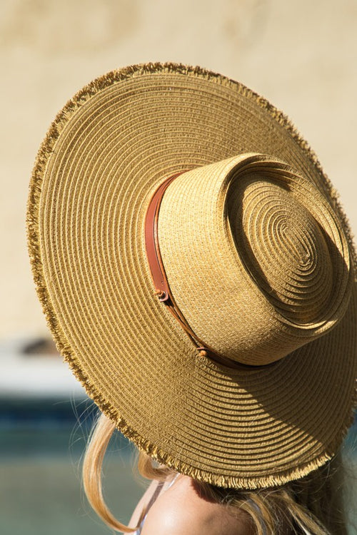 Carly Straw Boater Hat