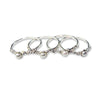 Pearly stacking rings, set of 4