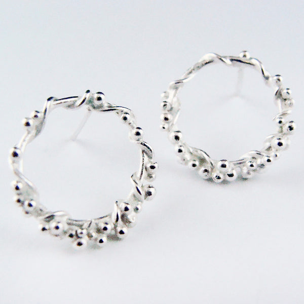 Encrusted Circle studs