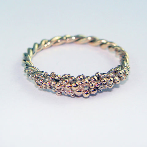 Gold encrusted ring