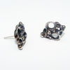 Silver Corally stud earings