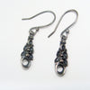 Silver Corally drop earrings