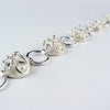 Septenary bracelet,  Silver and Freshwater Pearls