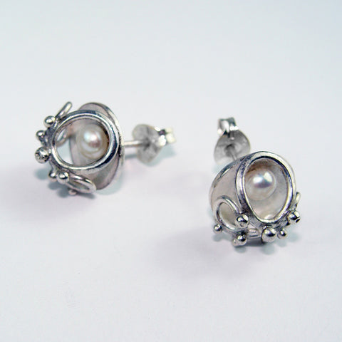 Small Studs with Freshwater Pearls