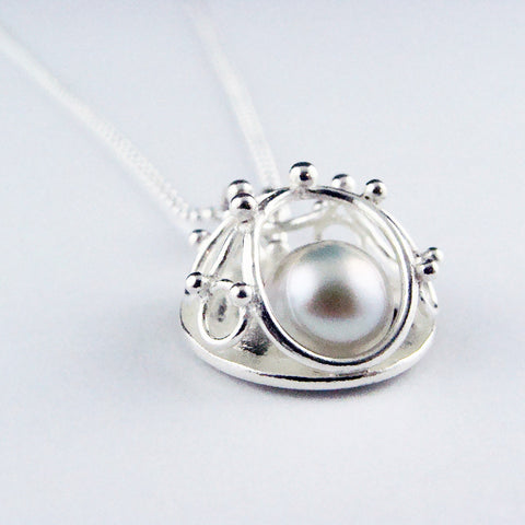 Large Pendant with Freshwater Pearl