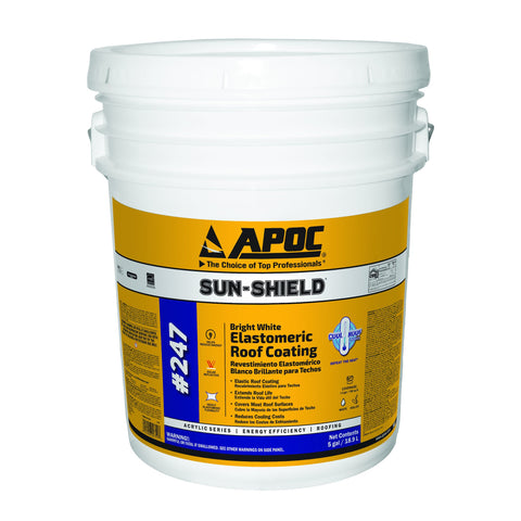 APOC<sup>®</sup> 247 Sun-Shield<sup>®</sup> Bright White Elastomeric Roof Coating
