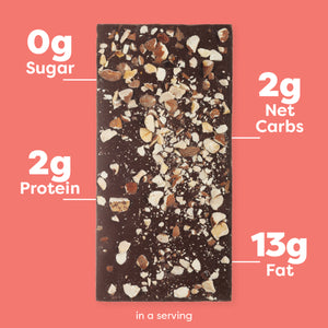 Toasted Hazelnut Keto Chocolate Bar