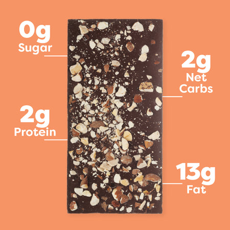 Roasted Almond Keto Chocolate Bar