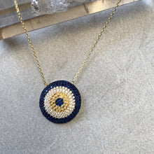 Load image into Gallery viewer, Hurrem evil eye necklace in gold sterling silver 925 Australia from turkey