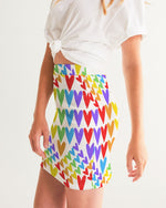 Load image into Gallery viewer, Rainbow Hearts | Mini Skirt
