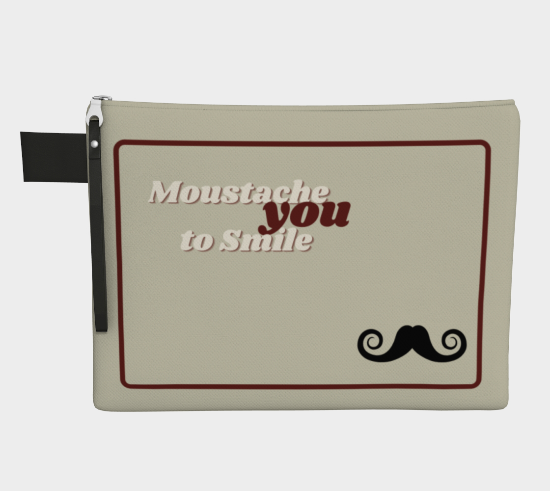 Moustache You to Smile | #handypouch