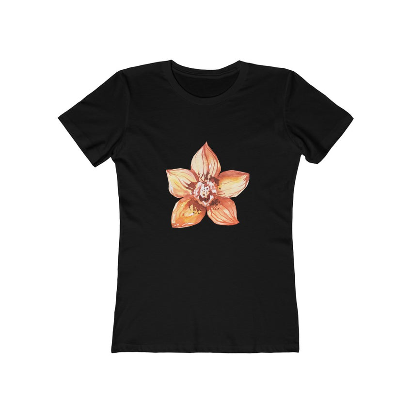 Summer Glow Flower Classic Black Tee