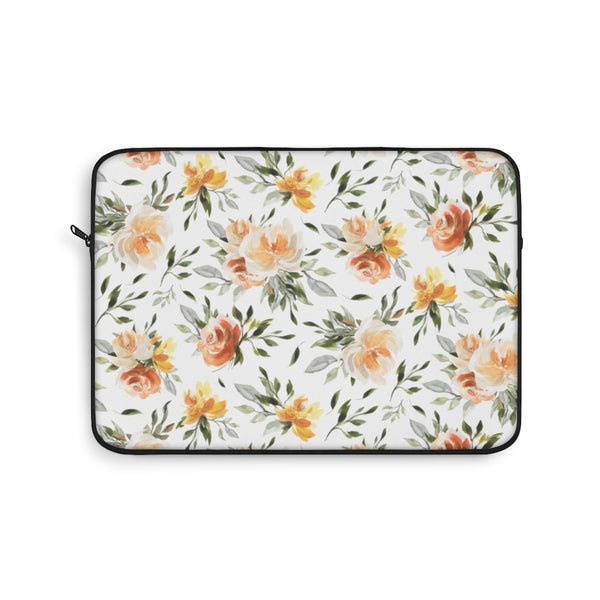 "Summer orange flower floral 13"" Laptop Sleeve for Women"