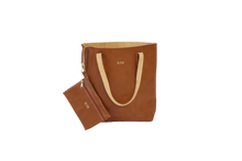 Load image into Gallery viewer, Everyday Tote - Blonde Leather Front Angle in Color 'Blonde Leather'