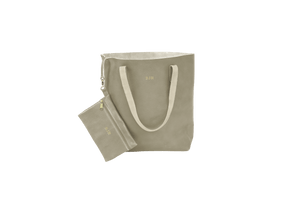 Everyday Tote - Champagne Leather Front Angle in Color 'Champagne Leather'