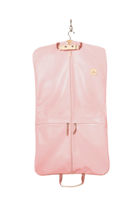 Two-Suiter - Lilac Coated Canvas Front Angle in Color 'Rose Coated Canvas'