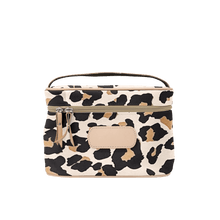 Load image into Gallery viewer, Makeup Case - Tan Coated Canvas Front Angle in Color 'Leopard Coated Canvas'