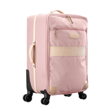 Load image into Gallery viewer, Large 360 wheeled luggage diagonal view in Color 'Rose Coated Canvas'