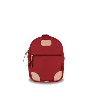 Mini Backpack  Front Angle in Color 'Red Coated Canvas'