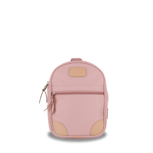 Mini Backpack  Front Angle in Color 'Rose Coated Canvas'