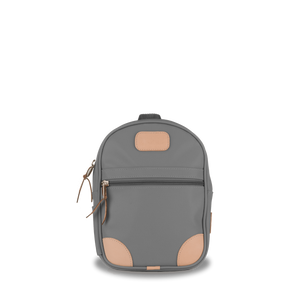 Mini Backpack  Front Angle in Color 'Slate Coated Canvas'