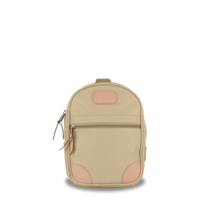 Mini Backpack  Front Angle in Color 'Tan Coated Canvas'