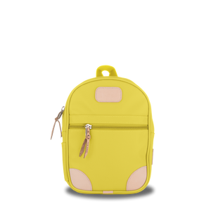 Mini Backpack  Front Angle in Color 'Lemon Coated Canvas'