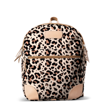 Load image into Gallery viewer, Backpack front view in Color 'Leopard Coated Canvas'