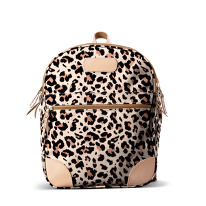 Backpack front view in Color 'Leopard Coated Canvas'