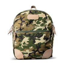 Load image into Gallery viewer, Backpack front view in Color 'Classic Camo Coated Canvas'