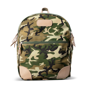 Backpack front view in Color 'Classic Camo Coated Canvas'