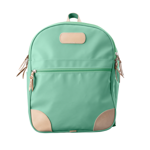 Backpack front view in Color 'Mint Coated Canvas'