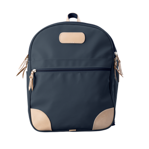 Backpack front view in Color 'Navy Coated Canvas'